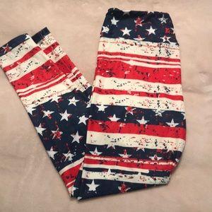 4th of July Leggings! Flag Leggings!